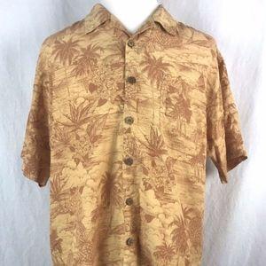 Tommy Bahama Men's Hawaiian Orange Button Front
